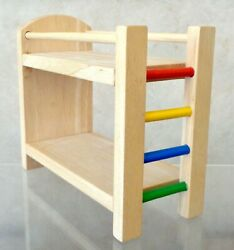 Plan Toys Wooden Doll House Furniture BUNK BED WITH LADDER Pretend Play
