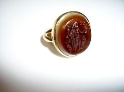 22K Gold Classical Ring Egypt Vintage 1948 for Man or Woman