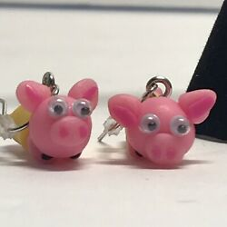 Pig Earrings - Pigs Wrapped In Blankets - Adorable Cute Quirky Fun Funky Unique