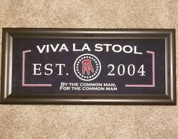 Barstool Sports Man Cave Wall Art Sign VIVA LA STOOL Silent Auction Collectible