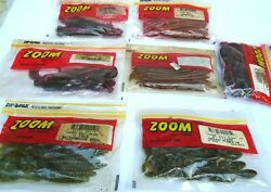 Lot of 7 Packs Fishing Worms ZOOM Red Shad Chamelion and more see photos $14.99