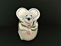 Vintage NS Gustin the Mouse California Pottery Handpainted Grated Cheese Shaker $14.99