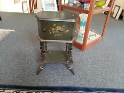 Antique Cushman Smoker Humidor & Smoking stand wCopper Liner