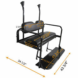 Flip Flop Rear Back Seat Kit Folding For 2004-18 Club Car Precedent Golf Cart $279.00