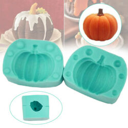 3D Pumpkin Silicone Mold DIY Soap Cake Chocolate Candy Baking Decorating Tool