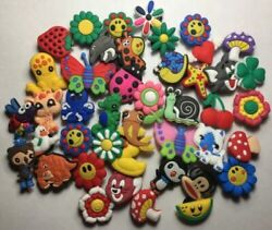 10 Random Shoe Charm Lot Pack - Animals Plants Flowers - For kids and teens