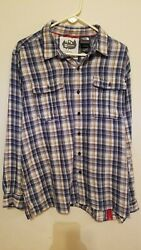 The North Face Lightweight Flannel Shirt Mens Extra Large XL Explore Fund