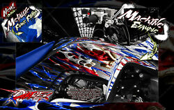 'RIPPER' CUSTOMIZABLE GRAPHICS WRAP DECAL KIT FOR YAMAHA RAPTOR 700 2006-2020