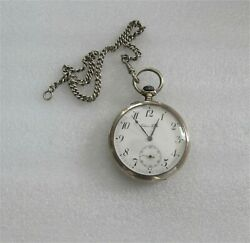 Paul Bhure Pavel Bure Silver Pocket watch Antique For Excellent Shooting $679.99