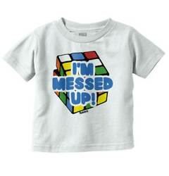 I'm Messed Up Rubik's Cube Brain Teaser Puzzle Youth Toddler T Shirt Tees TShirt