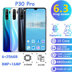 P30 Pro 6+256GB Smart Phone 6.3inch Screen Android System Dual SIM Unlocked