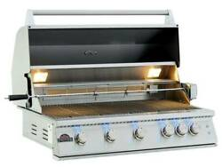 5 BURNER STAINLESS STEEL OUTDOOR FREESTANDING BARBECUE BBQ GRILL CART $1799.00