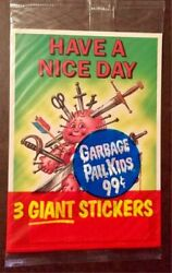 1986 GARBAGE PAIL KIDS UNOPENED PACK GIANT STICKERS 3 STICKERSCARDS PER PACK B $4.99