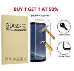 2 Pack Full Cover Tempered Glass Protector F Samsung Galaxy S8 S9 Plus Note 8 S7 $6.95