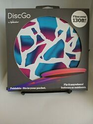 DiscGo Foldable Fits In Your Pocket Flies Over 130 Feet Frisbee Foldable NEW $9.00