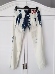"£650 Runway Dsquared2 'Clement Jean' Designer Bleached Jeans W32""- Made In Italy"