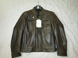 RICHA MEMPHIS LEATHER MOTORCYCLE TOURING JACKET BROWN GBP 249.95