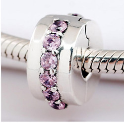 PAIR OF PANDORA SHINING PATH PINK 925 STERLING SILVER STOPPER CLIP CHARM