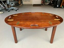 Beautiful Vintage Bombay Company Coffee Table Butler Tray With Stand LK