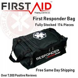 Tactical Trauma Kit with First Responder BAG FULLY STOCKED First Aid EMT EMS LOT