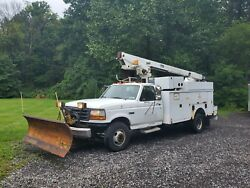 1997 Ford Bucket Truck with Plow