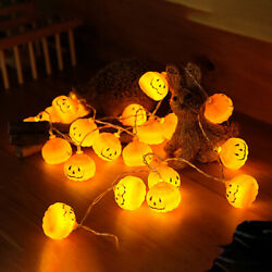3M30LED Halloween Pumpkin String Fairy Lights Home Party Carnival Props Decor