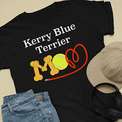 Kerry Blue Terrier Dog Mom and Dad Comfy Cute Dog Lover T-Shirt