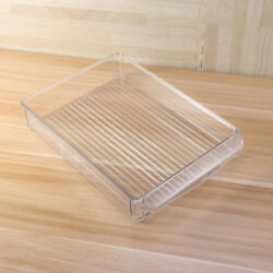 1pc Stackable Kitchen Versatile Organizer Tray Bin for Freezers Cabinets Drawers