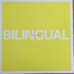 Pet Shop Boys - Bilingual. Highly collectable vinyl record.