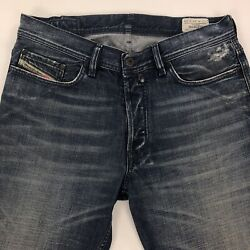 Diesel Quratt Relaxed Fit Straight Leg Jeans Mens Size 34x34 Button Fly '0073H'