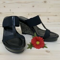 Charles by Charles David Black Textured Wedges Size 7.5