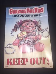 1986 Topps Garbage Pail Kids Poster #6 Headquarters Keep Out! Direct From Pack. $4.99