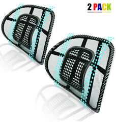 Universal 2x Mesh Back Support Lumbar Brace For Car Office Seat Chair Cushion $14.99