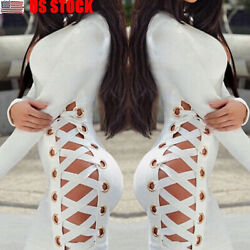 Sexy-Women-Long-Sleeve-Bandage-Bodycon-Evening-Party-Cocktail-Club-Mini-Dress