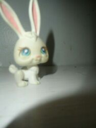 Littlest Pet Shop 2004 White Bunny Rabbit With Blue Eyes LPS #3 2004 RED Magnet