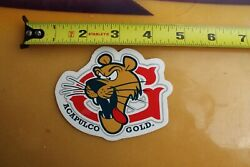 ACAPULCO GOLD G Cannabis College Clothing C1 Vintage Surf Skate Style STICKER