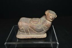 Guaranteed Pre columbian earthenware Mexican ancient Rain God Aztec chacmool