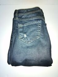 GENETIC DENIM THE RILEY  Distressed Skinny Straight Jeans Size 25 Womens $7.00