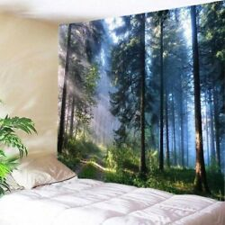 Forest Sunshine Tapestry Nature Tree Wall Hanging Bedspread Throw Home Decor US $17.09