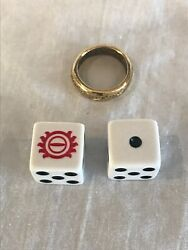 Monopoly Lord of The Rings Trilogy Board Game Replacement Ring And Dice