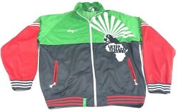 LRG Lifted Research Group Zip Up Track Jacket Africa Lion Embroidered XXXXL 4XL