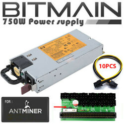 Bitmain Antminer L3 S9 Z9 94% Platinum 750W PSU Power Supply Kit HSTNS PL18 $39.99