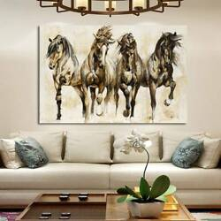Art Running Horse Canvas Painting Picture Print Home Wall Decor Unframed New