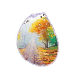 Color Printing oil painting Agate Gemstone Pendant Necklace H1903 1137