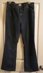 Levis Signature Womens At Waist Bootcut Dark Blue Jeans Size Misses 34x30 NICE💋 $14.98