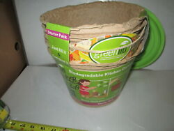Green Lid Biodegradable Kitchen Compost Bin 1 Lid 5 bins. $15.00