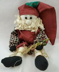 Santa 13quot; High plus 13quot; Hat With Weighted Bottom Primitive Country Christmas $13.99