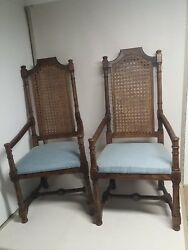 Vintage Pair CENTURY FURNITURE CO. Arm Dining Chairs RARE $89.95