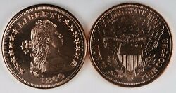 1800 Large Cent Design Liberty 1 AVDP ounce .999 Fine Copper Round 1804 $3.99