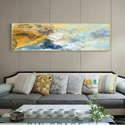 Wall Art Canvas Oil Painting Modern Horizontal Abstract Living Room Home Decor $20.10